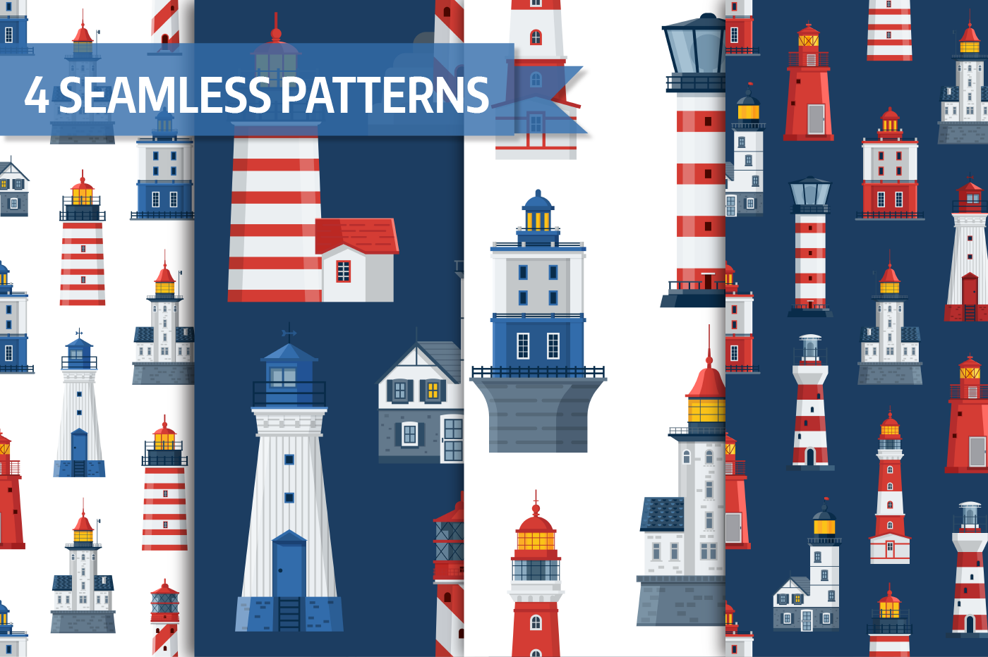 Lighthouse Icons and Patterns example image 3