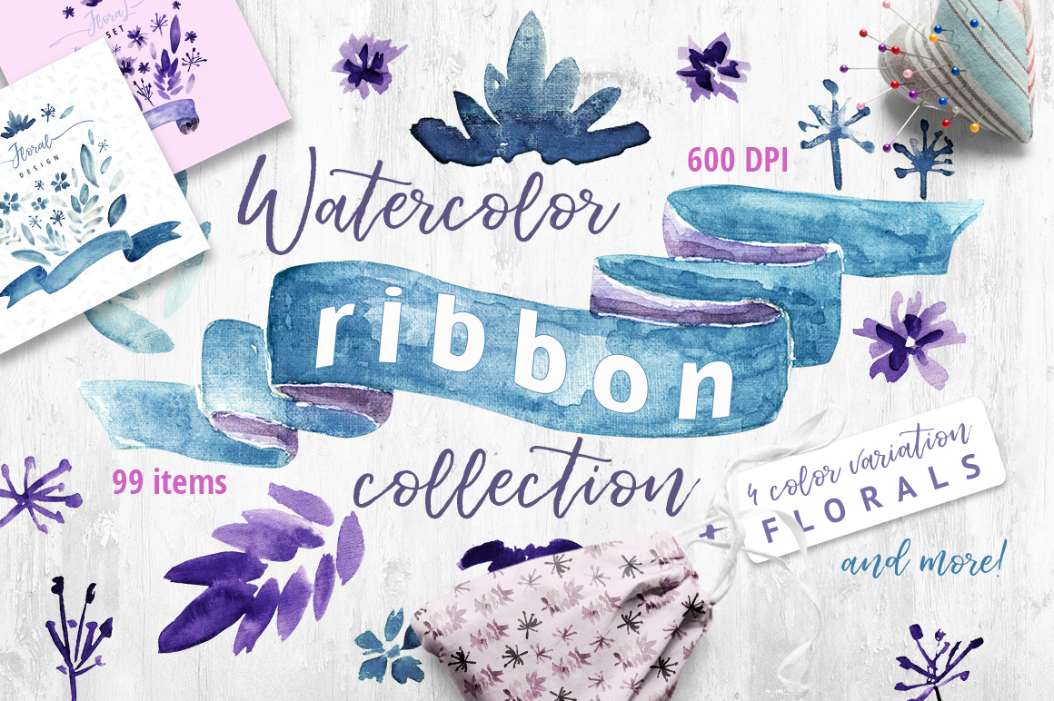 Watercolor Ribbon Collection example image 1