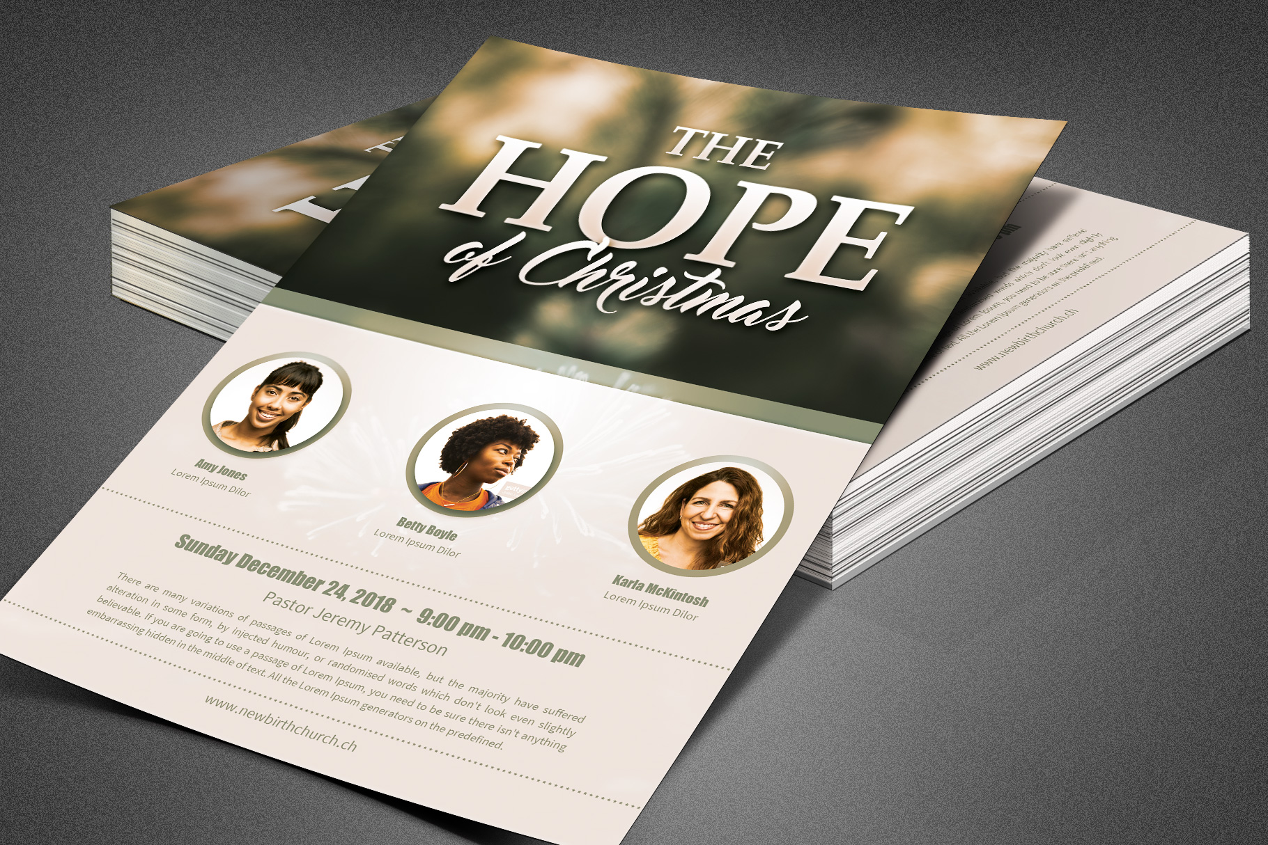 The Hope of Christmas Church Flyer example image 4