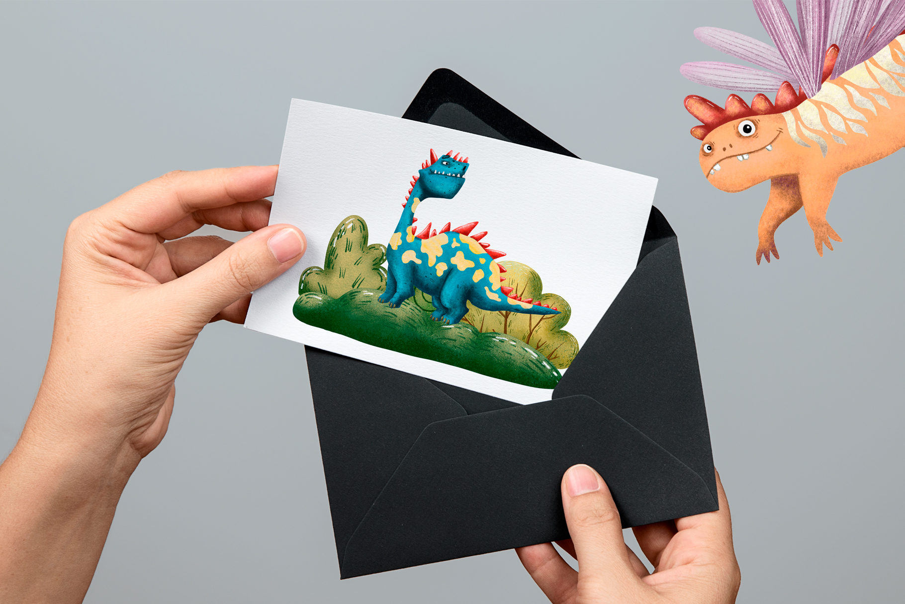 Cute Dragons - Clip Art Set example image 7
