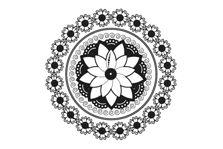 Mandalas. Round forms. example image 13