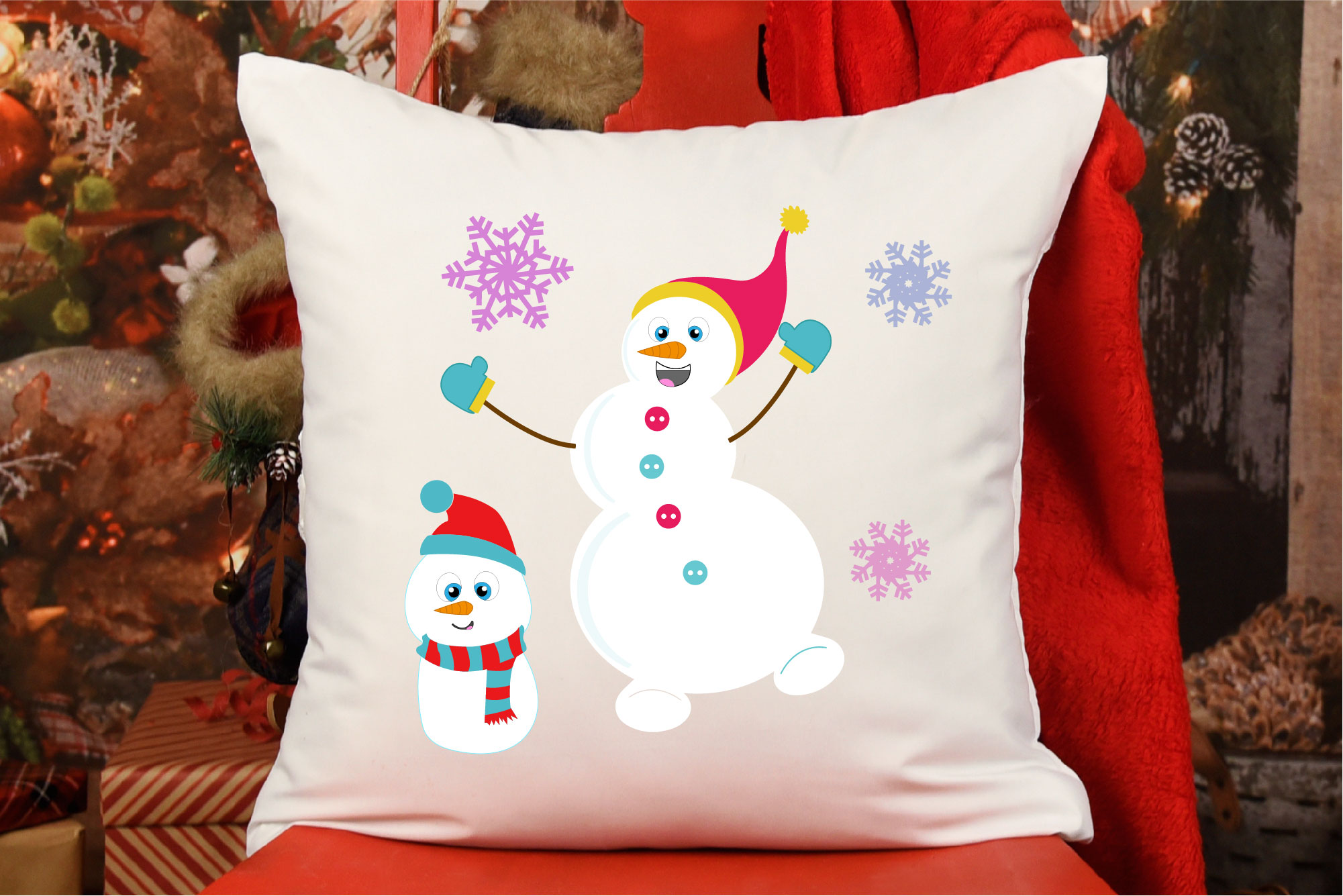 Snowman Bundle SVG, Sublimation, Snowflake SVG, Winter example image 3