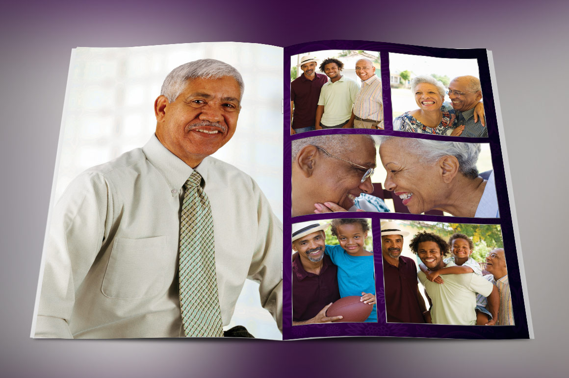 Lavender Dignity Funeral Program Template example image 3