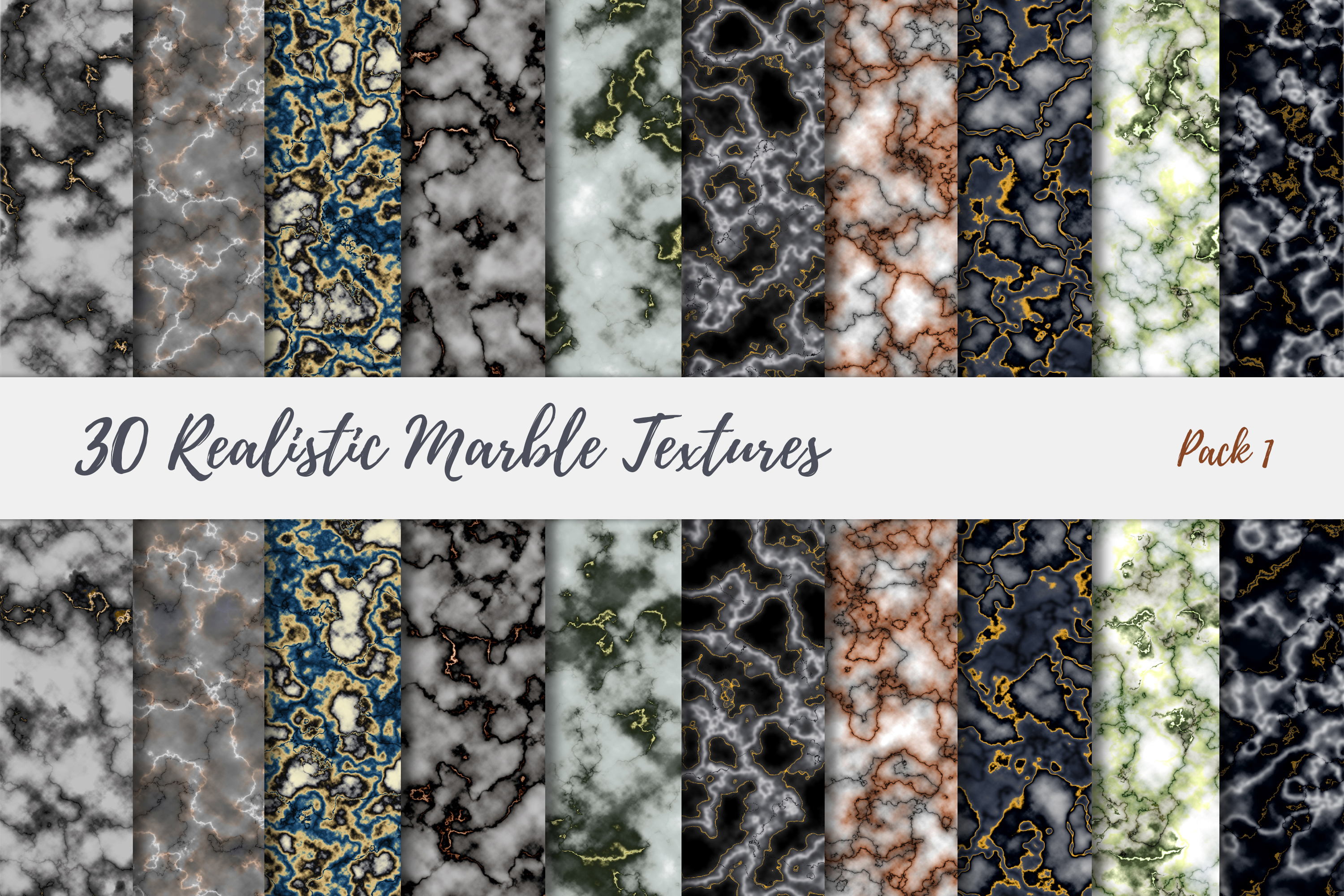 30 Realistic Marble Textures - JPG example image 16