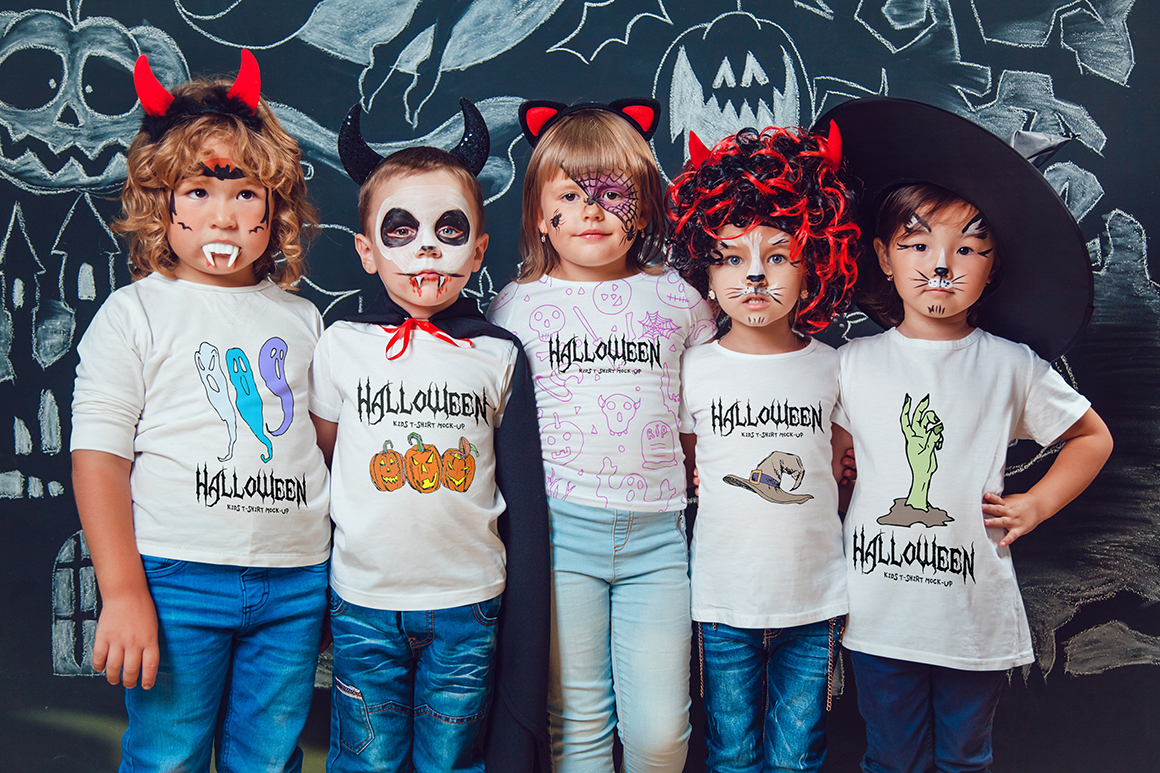 Halloween Kids T-Shirt Mock-Up example image 10