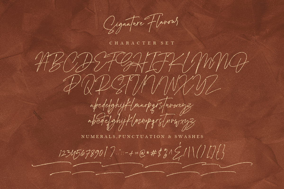 Signature Flavour | Handwritten Font example image 17