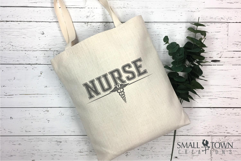 Nurse, Nursing Logo, Caduceus Badge, PRINT, CUT & DESIGN example image 4