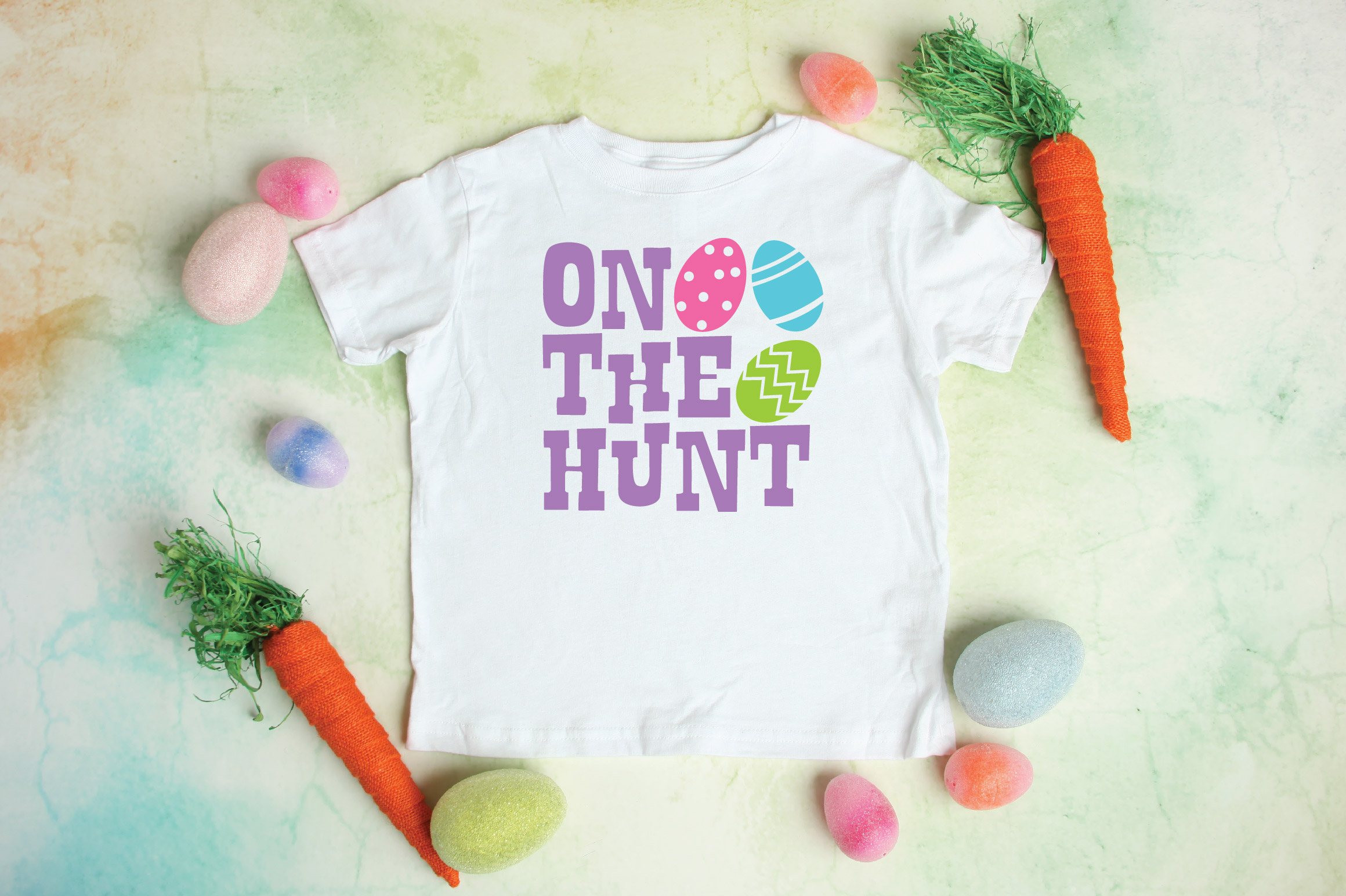 Easter SVG Cut File - On The Hunt SVG DXF EPS PNG JPG AI example image 2
