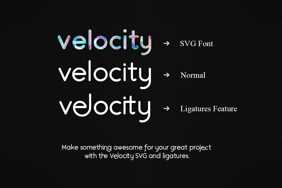 Velocity SVG Font example image 2