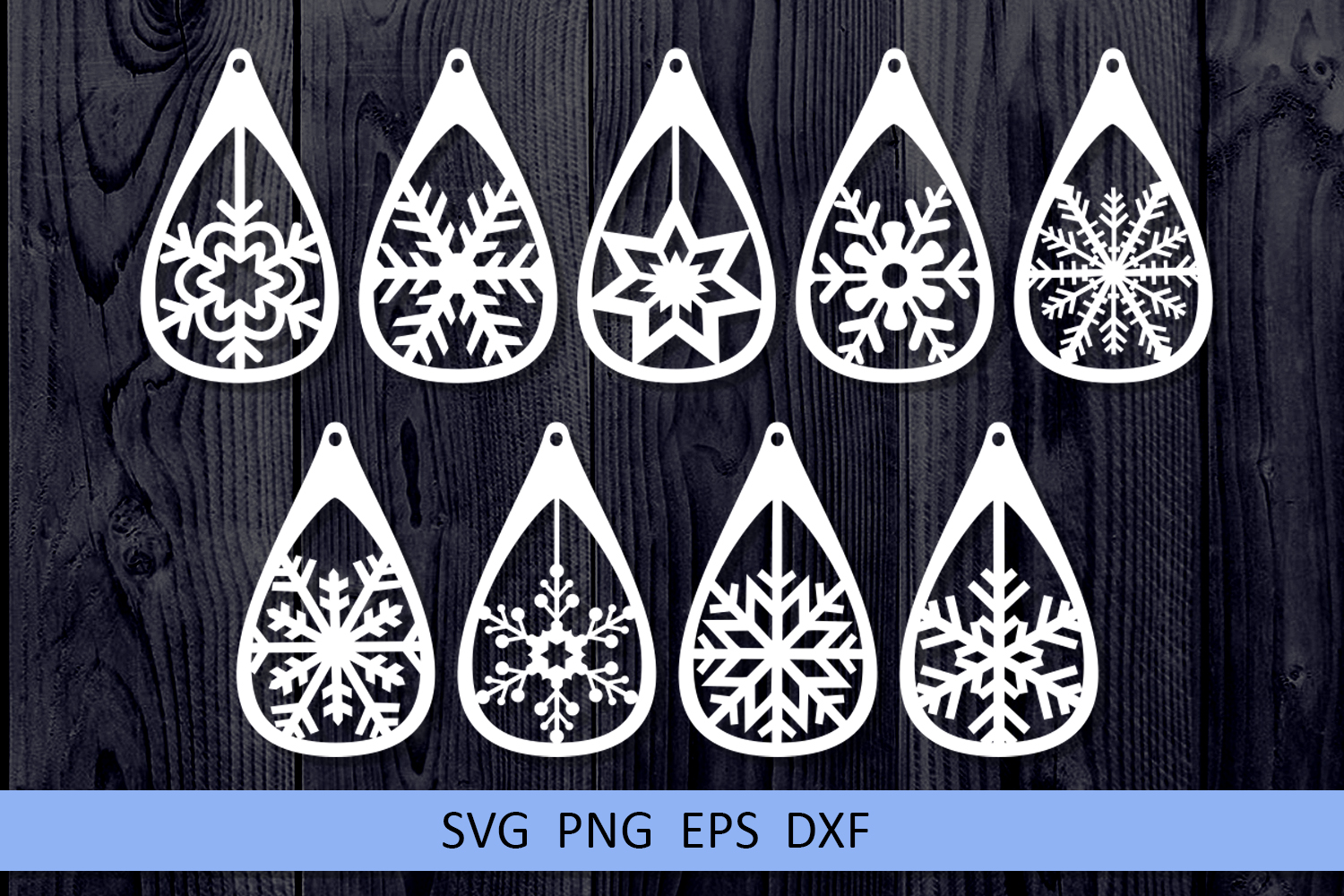 9 Christmas earrings svg Leather earrings svg Necklace svg example image 4