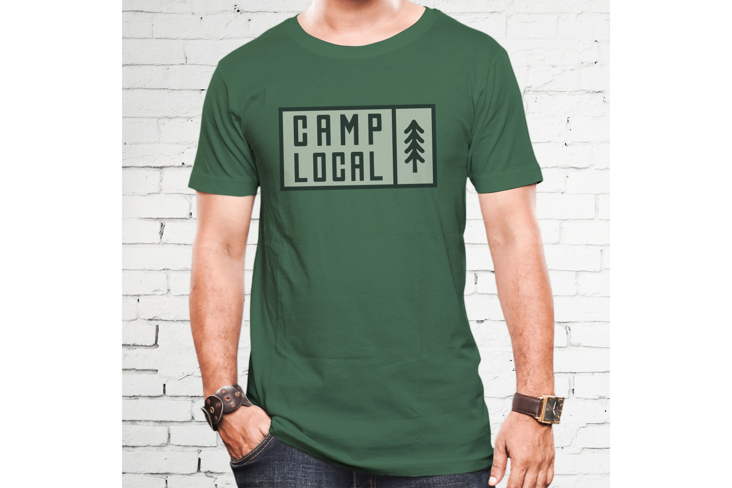 Vintage Camp Local Logo / Retro Typography Badge Travel SVG example image 3