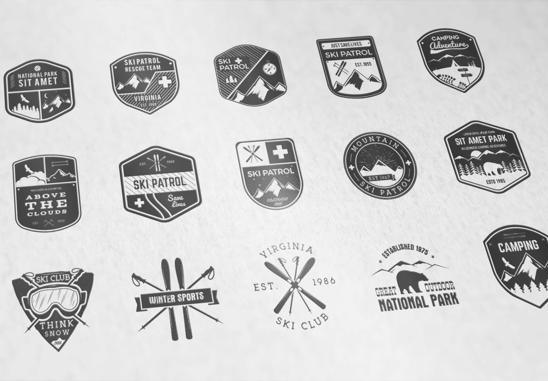 70% OFF Adventure Graphics Pack / Retro Logos Set / SVG's Collection / Icons example image 8