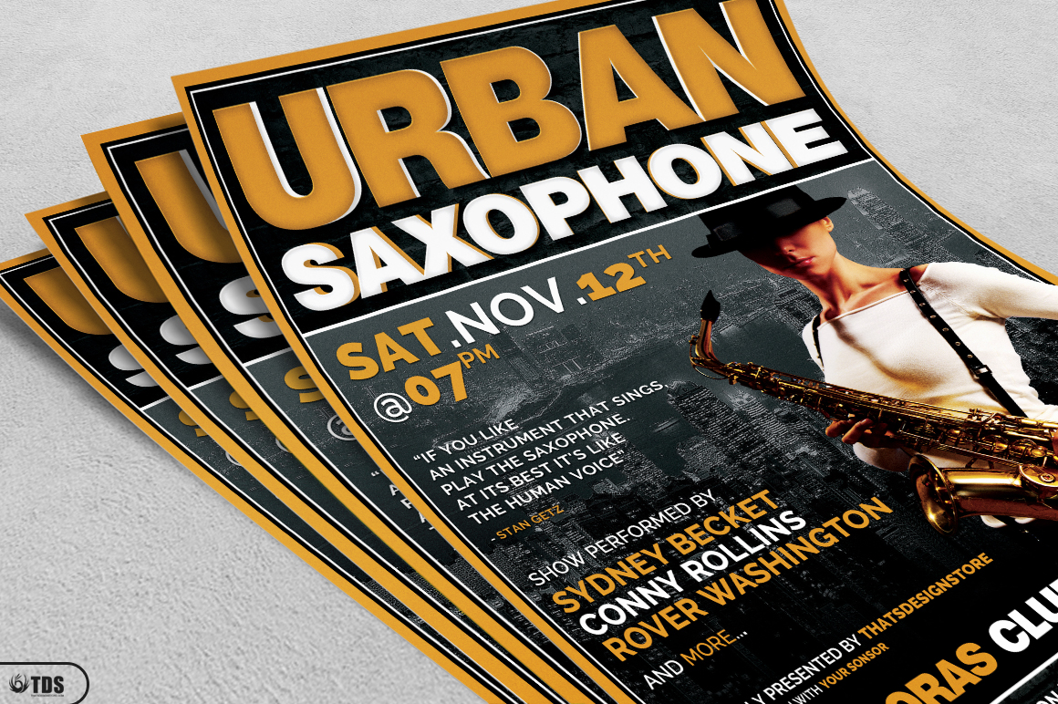 Urban Sax Flyer Template example image 3