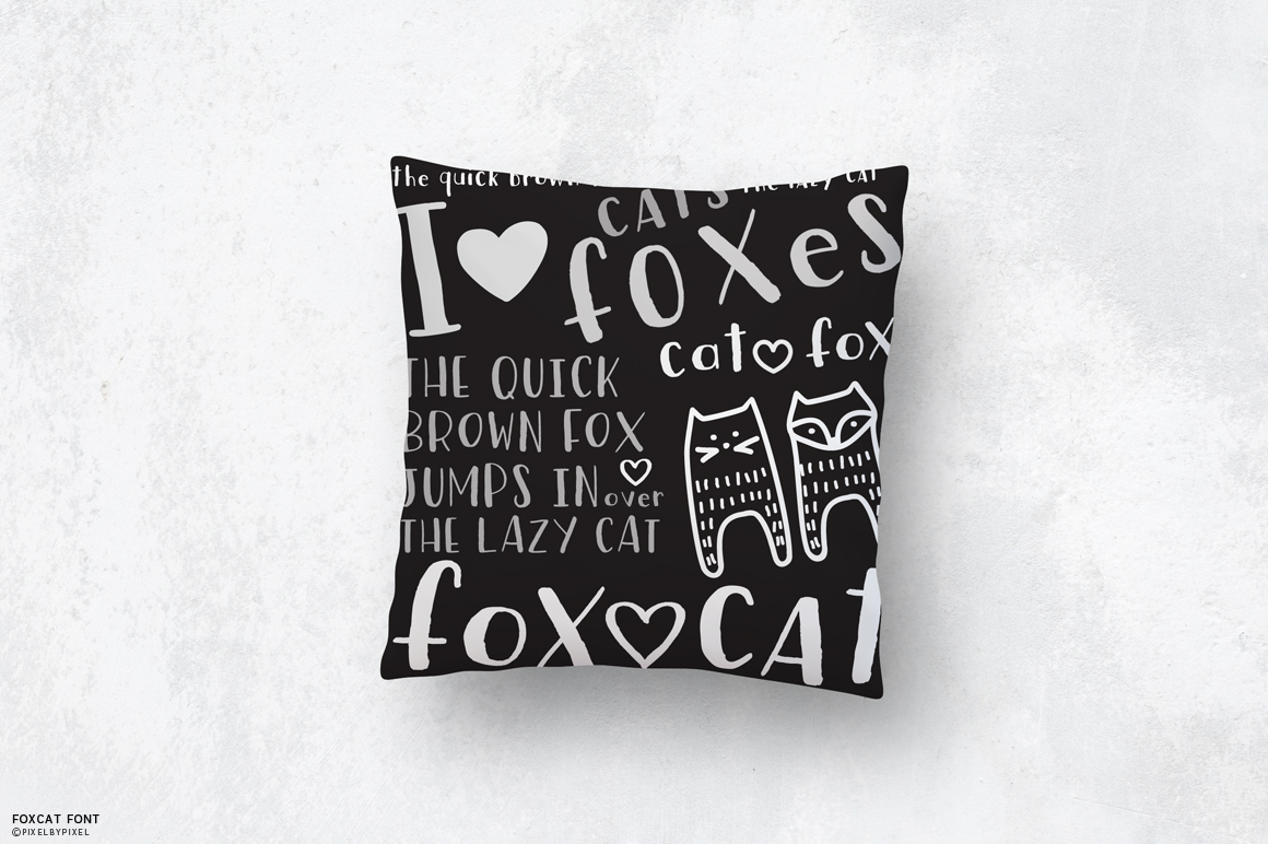 Fox Cat Hand Drawn Font example image 2
