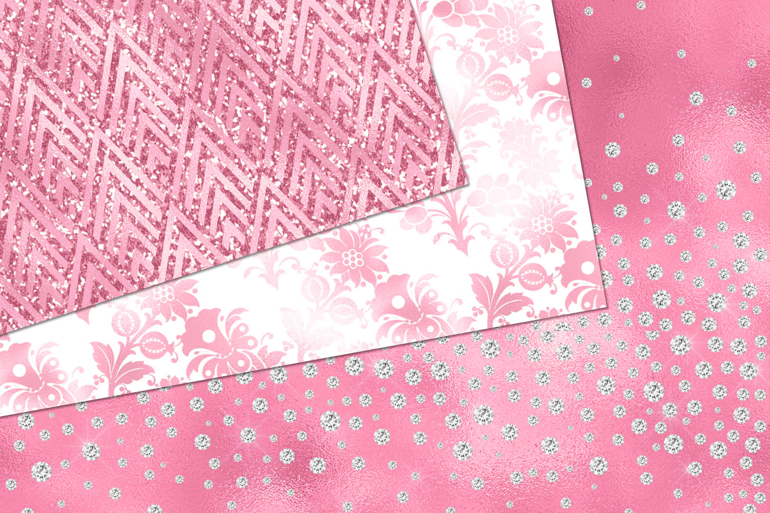 Glitzy Pink Digital Paper example image 3