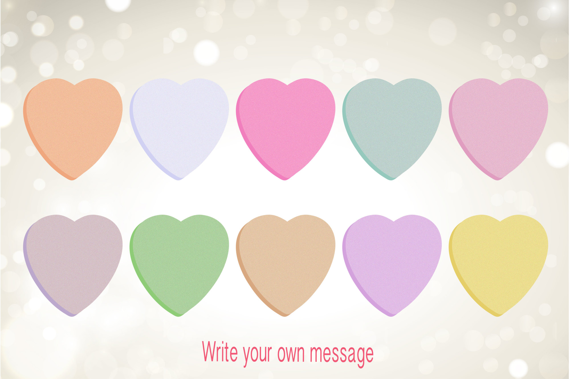 Conversation Hearts, Valentine Clipart example image 3