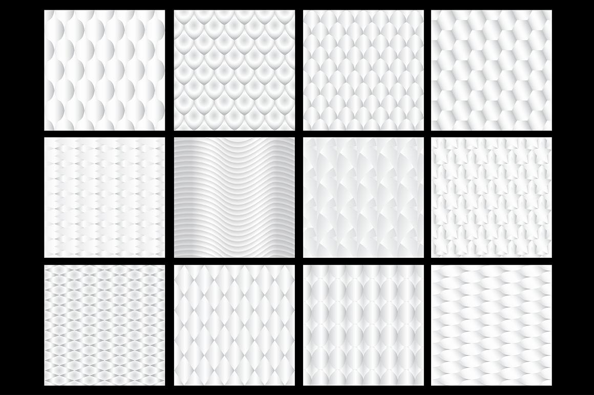 White geometric bundle. example image 3