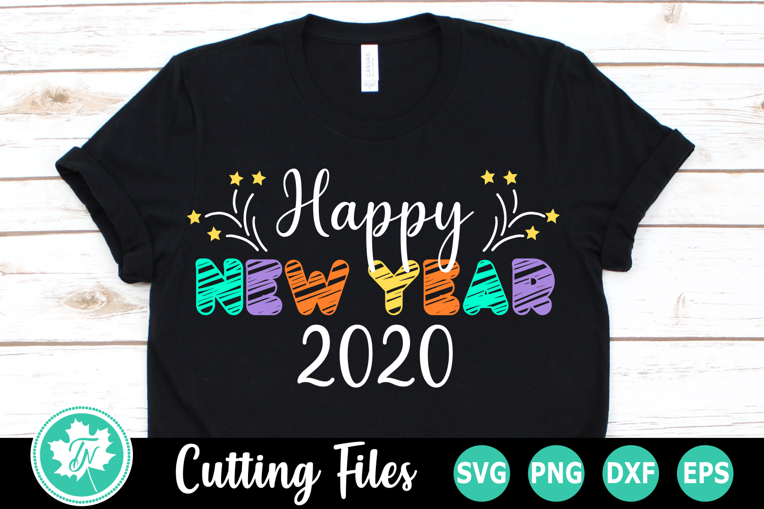 Happy New Year 2020 - A New Year's SVG Cut File example image 1