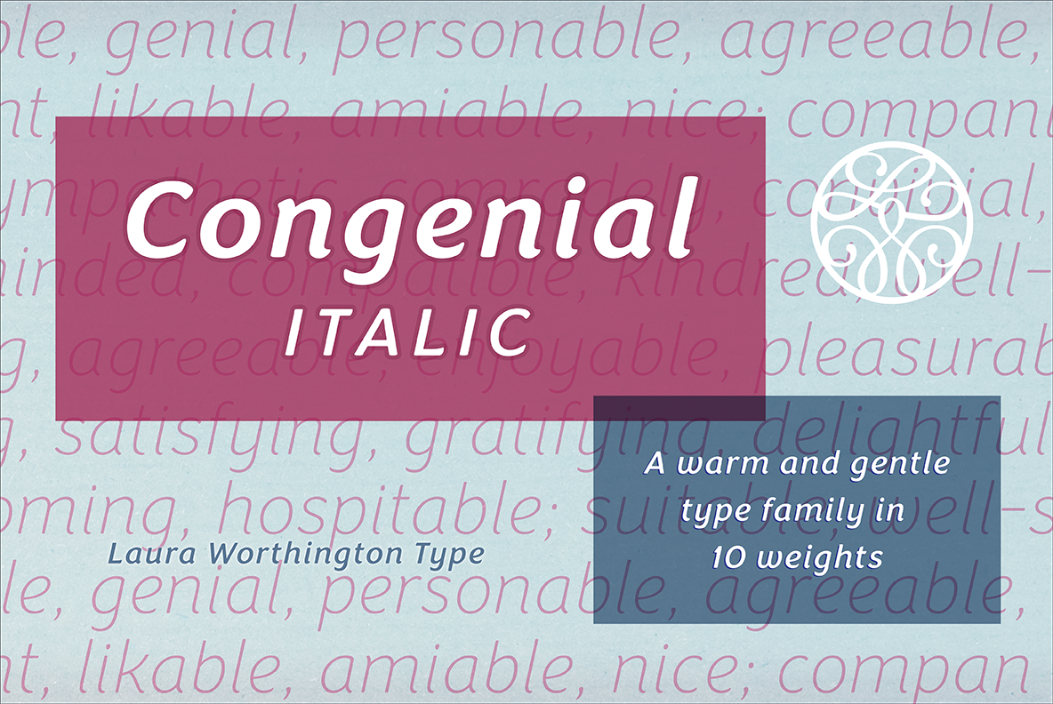 Congenial Italic Ultra Light example image 9
