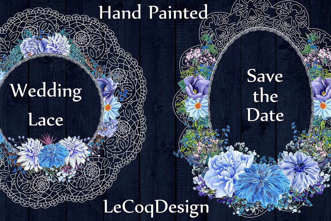 White lace floral frames clipart example image 2