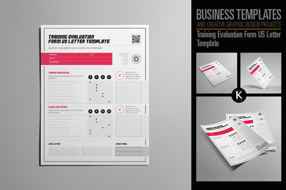 Training Evaluation Form US Letter Template example image 1