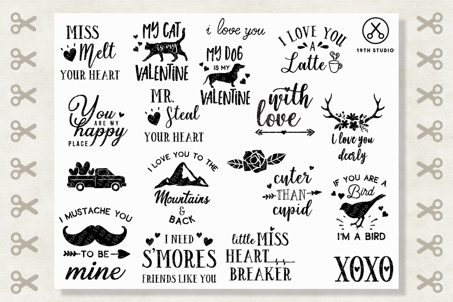 Valentine's Day SVG Bundle - M19B example image 2