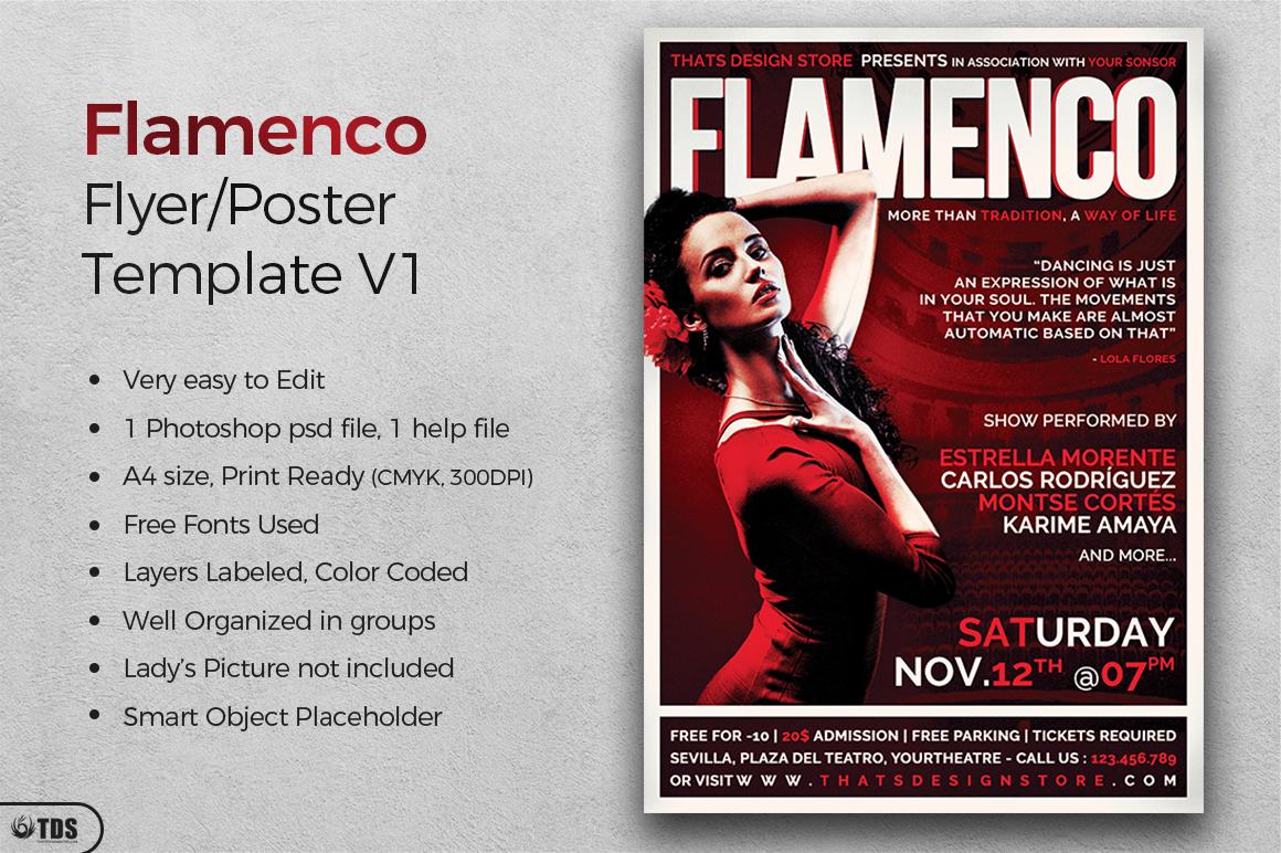 Flamenco Flyer Template V1 example image 3