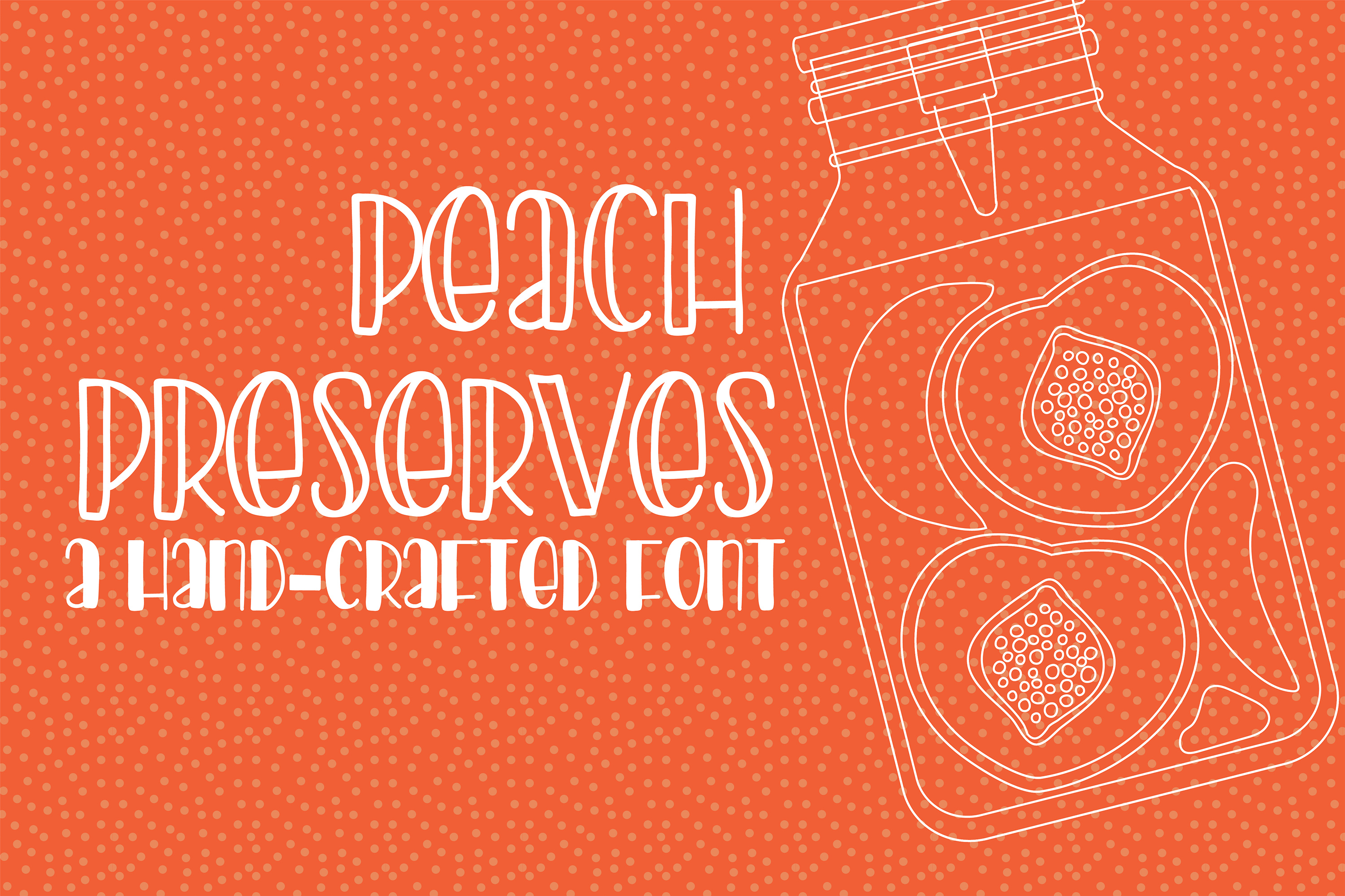 PN Peach Preserves Font Duo example image 10