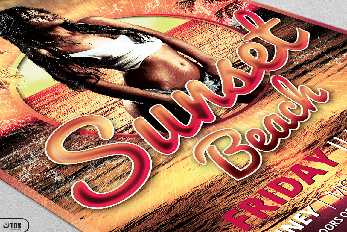 Beach Party Flyer Template V3 example image 5