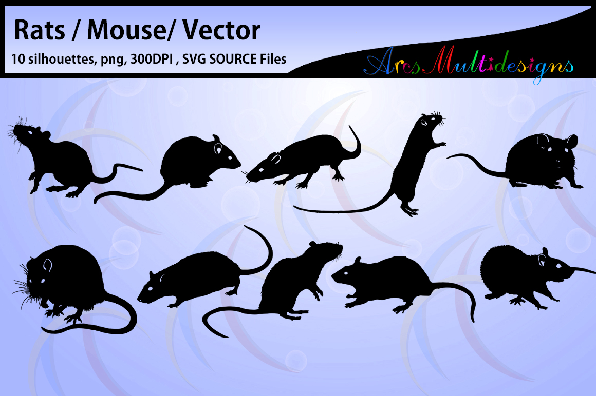 Rat silhouette / vector rat / SVG SOURCE file / Png/ mouse / mouse silhouette / printable rats silhouette / High Quality example image 1