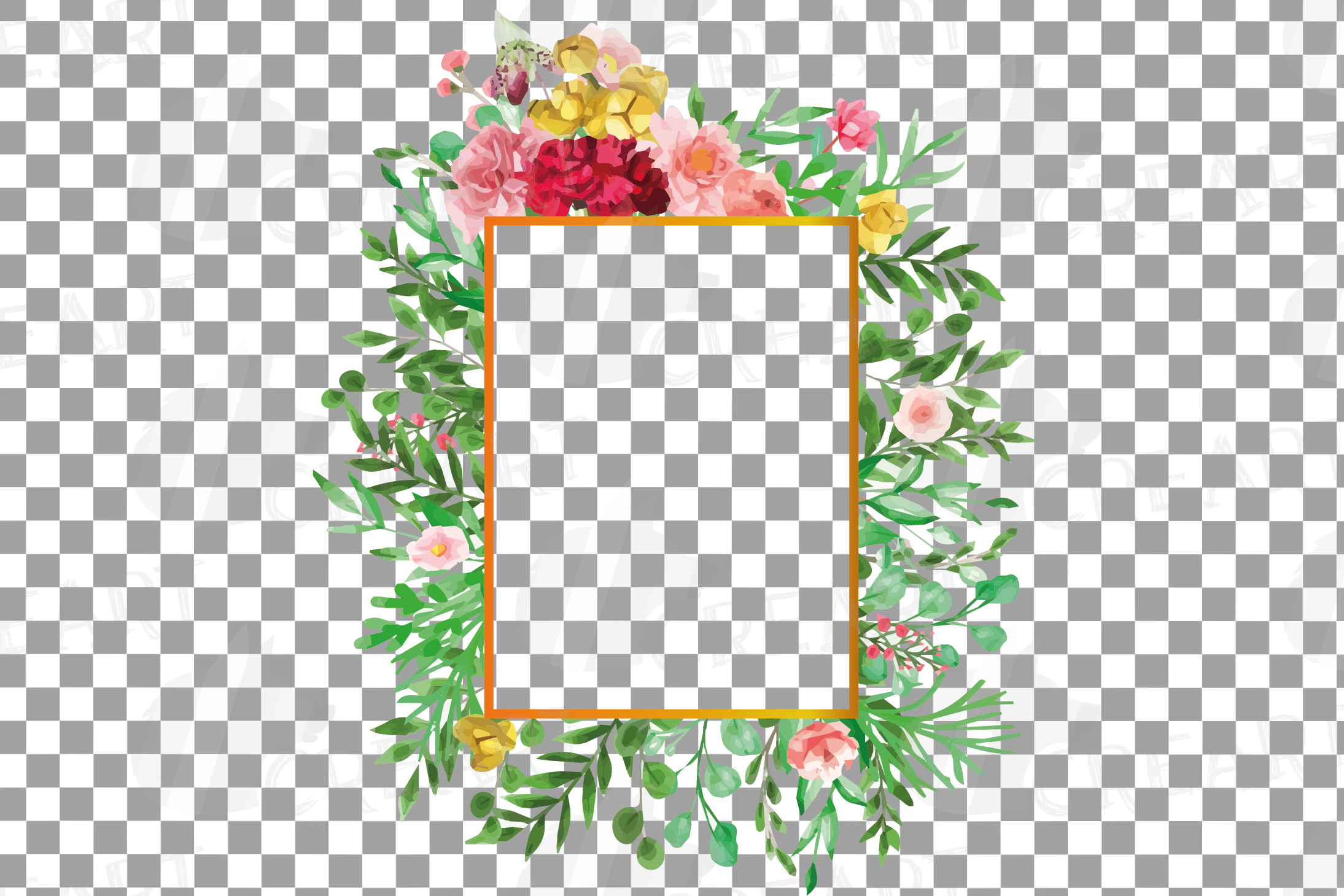 Watercolor floral floral frames and borders clip art pack example image 18