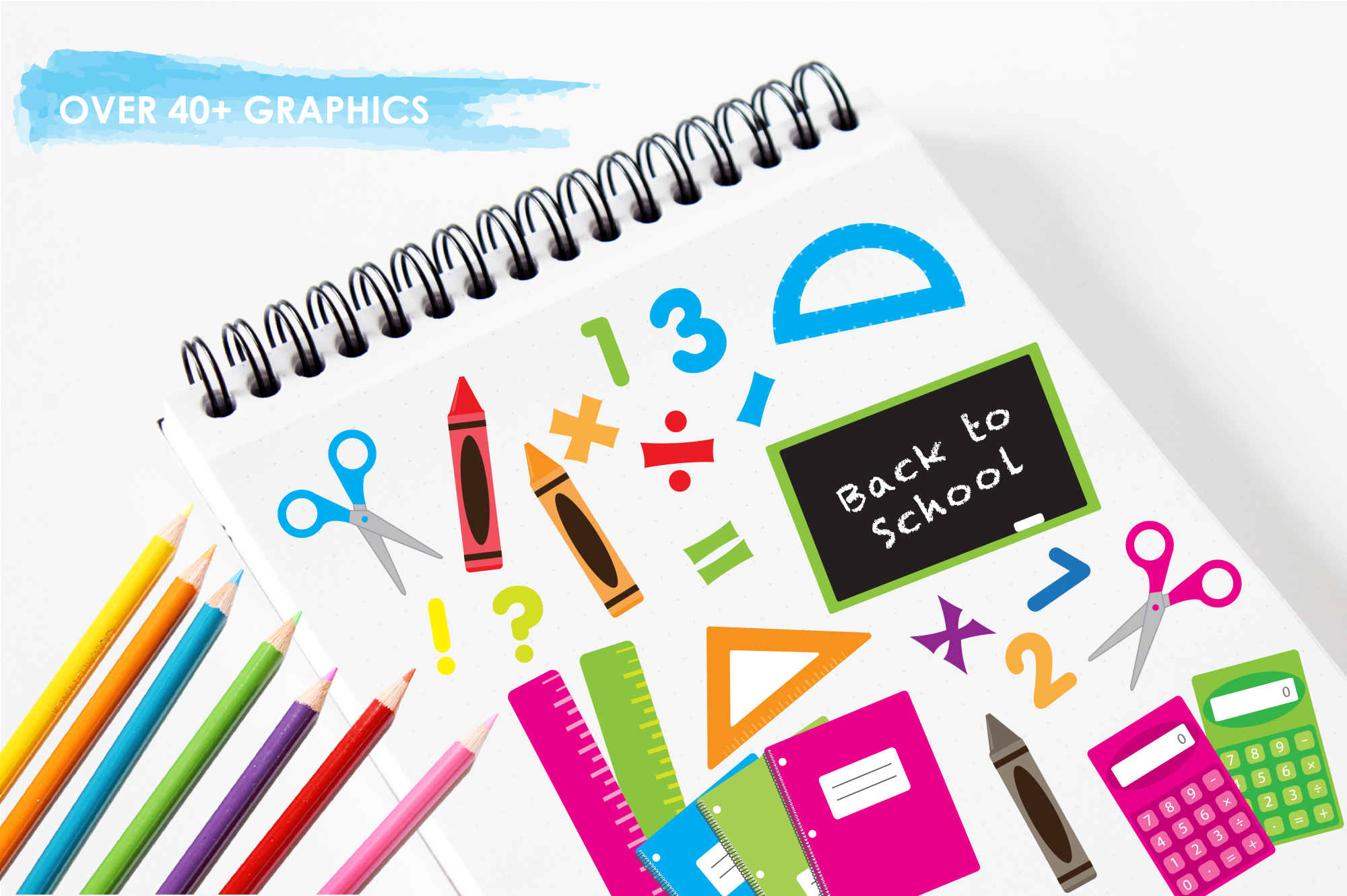 School Supplies graphics and illustrations example image 3