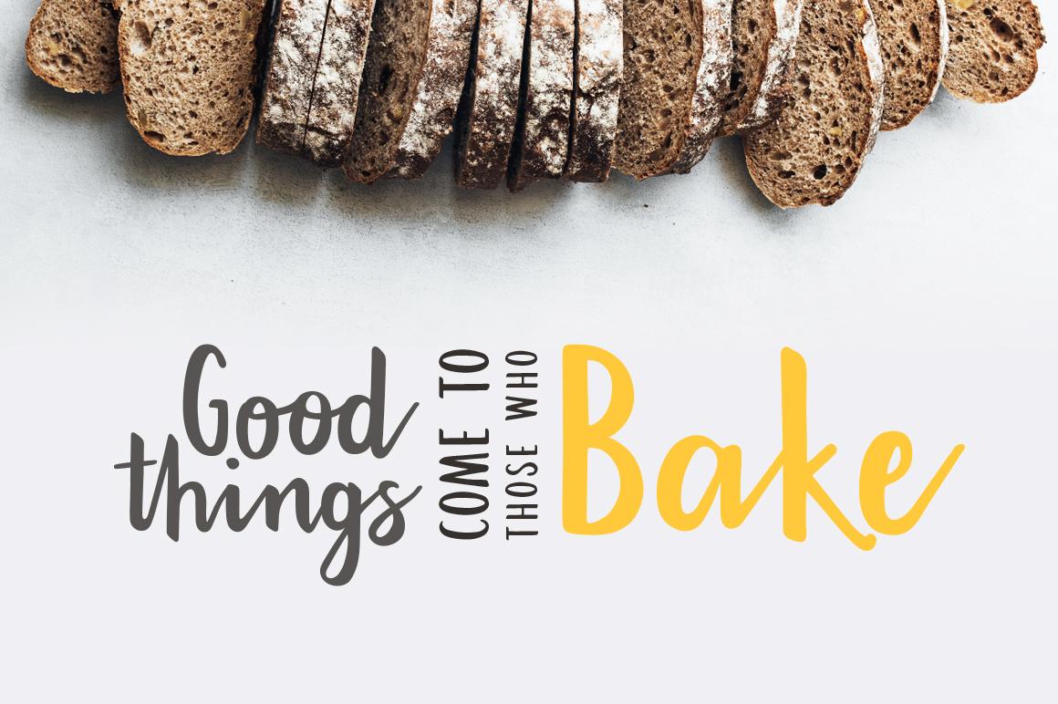 Bakehouse script font example image 2