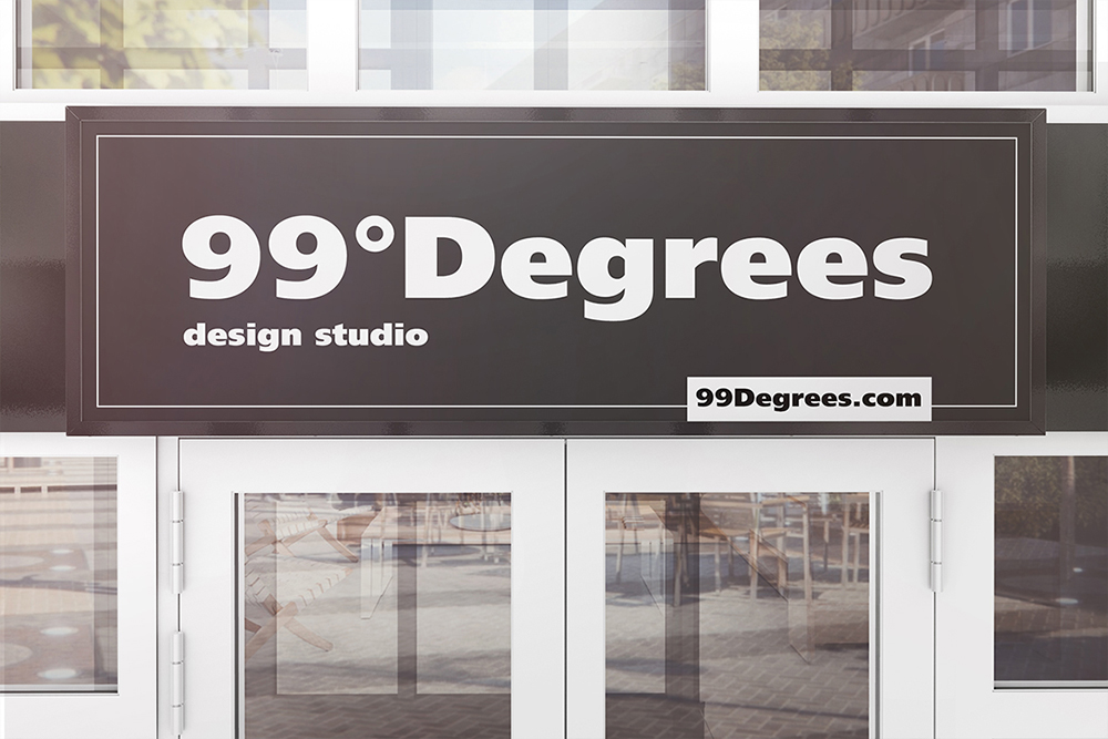 Building Advertising Signboard Mockup example image 3