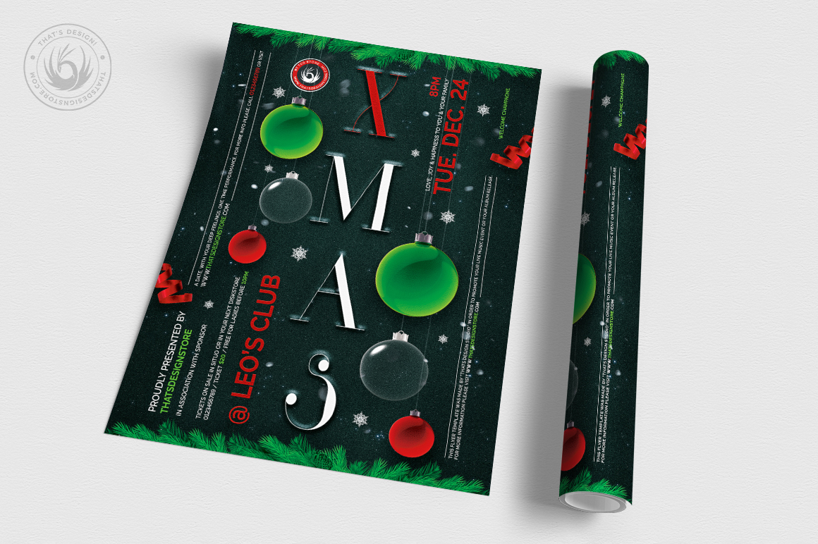 Christmas Eve Flyer Template V13 example image 3