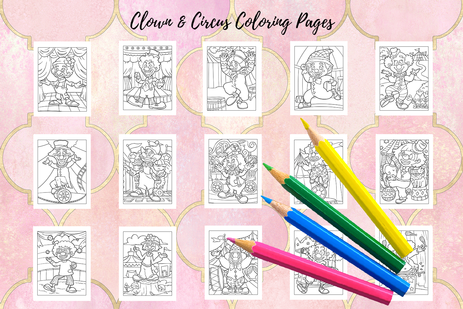 Coloring Pages For Kids - 15 Clown and Circus Coloring Pages example image 2