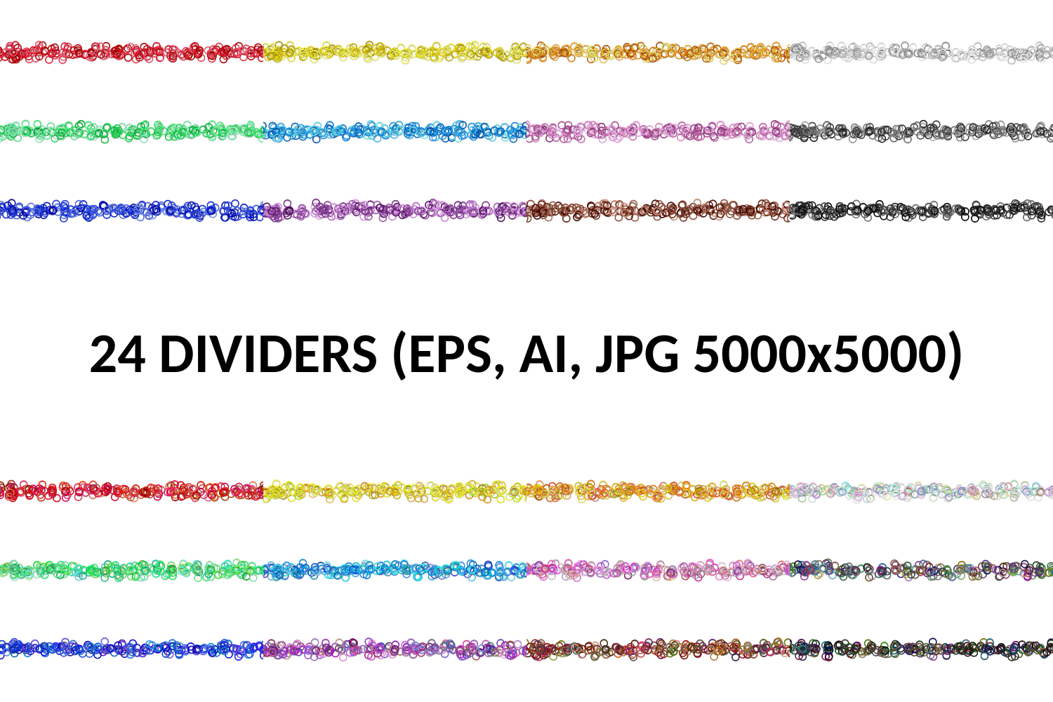 24 Seamless Page Dividers (AI, EPS, JPG 5000x5000) example image 1