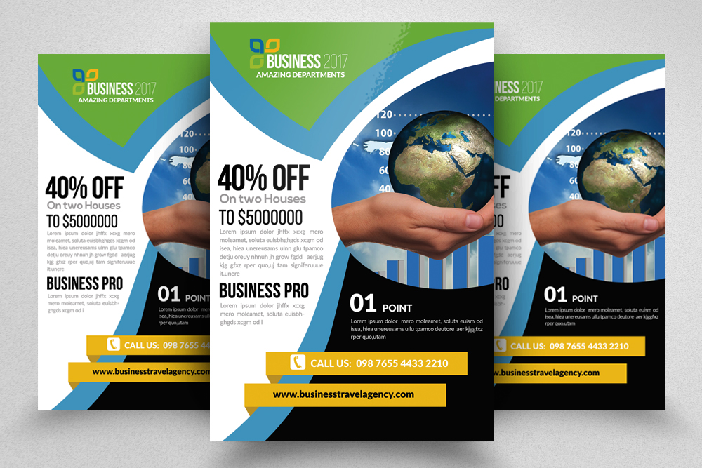10 Multi Use Business Flyers Bundle example image 3