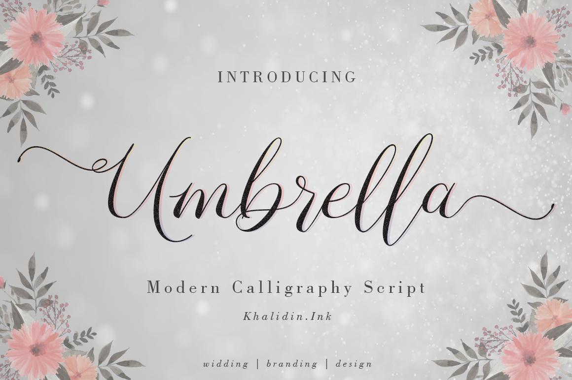 Umbrella Font example image 1