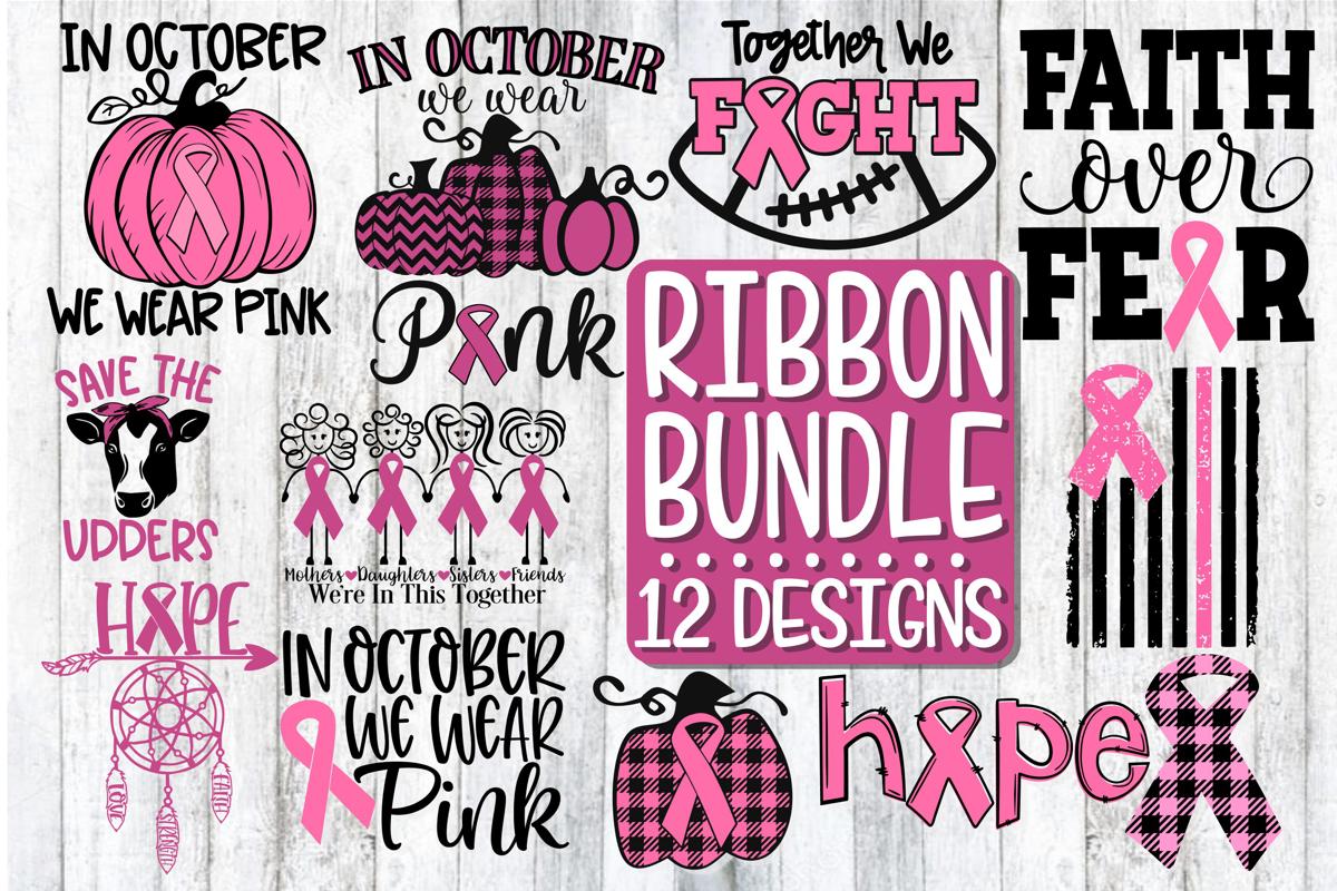 Ribbon Bundle - 12 Designs - SVG PNG DXF EPS example image 2