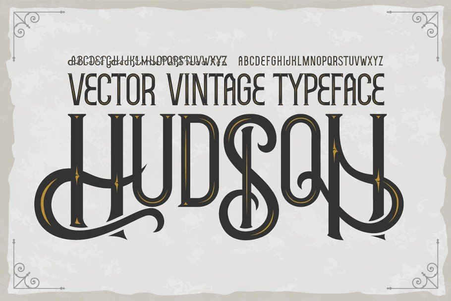 Hudson OTF vintage label font. Uppercase only! example image 1