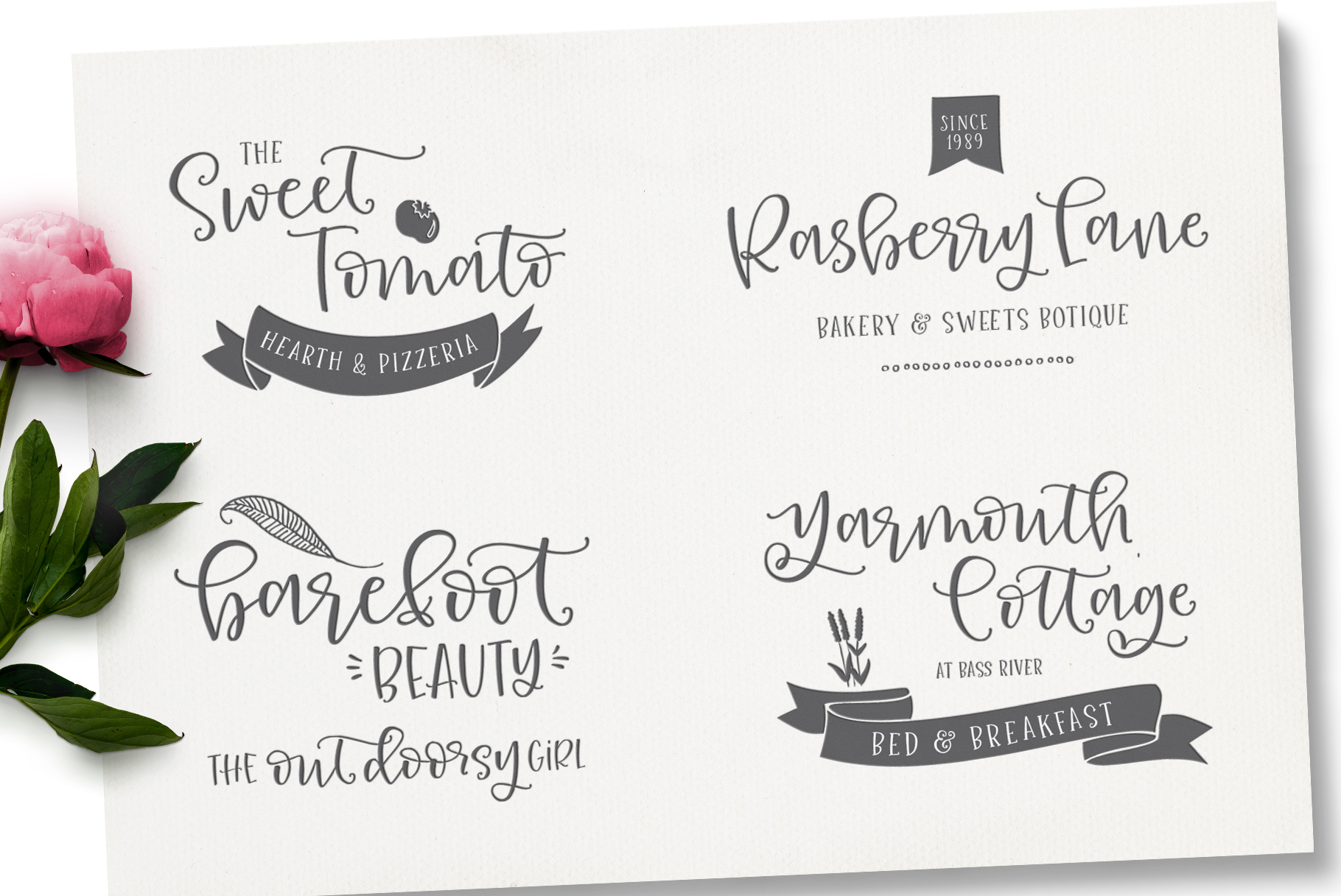 Roseroot Cottage Font Collection example image 8