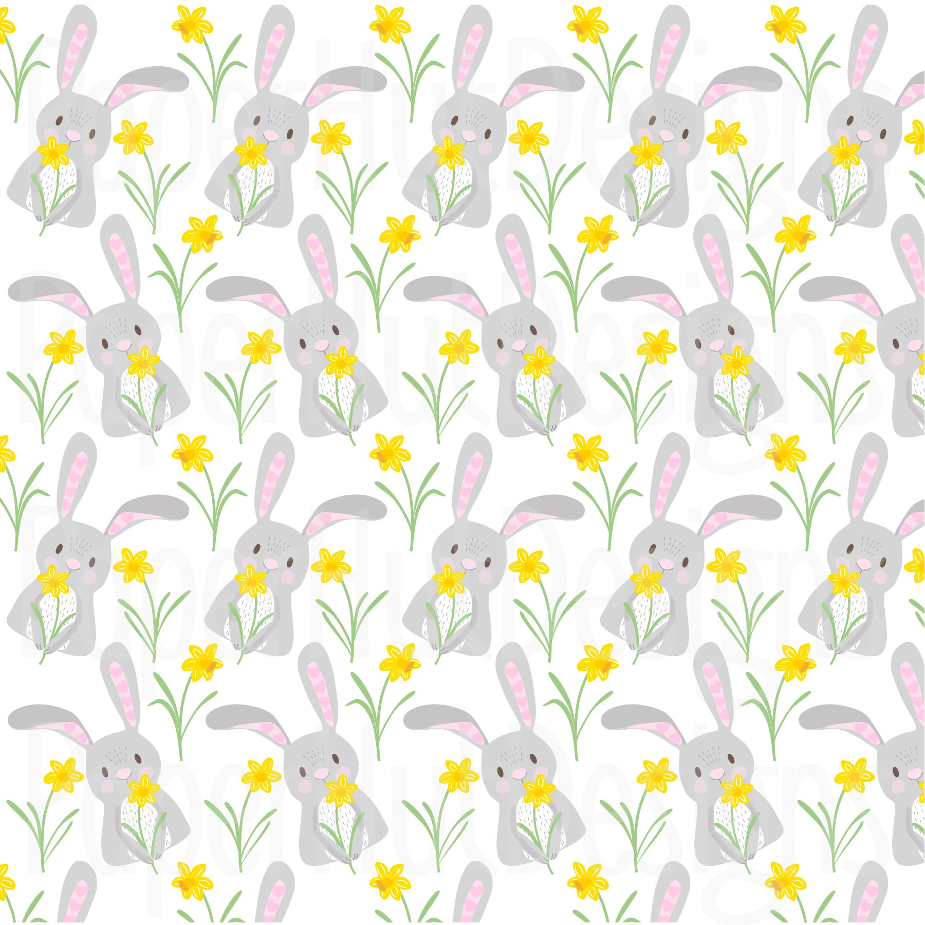Easter Clipart and Digital Papers Set example image 5