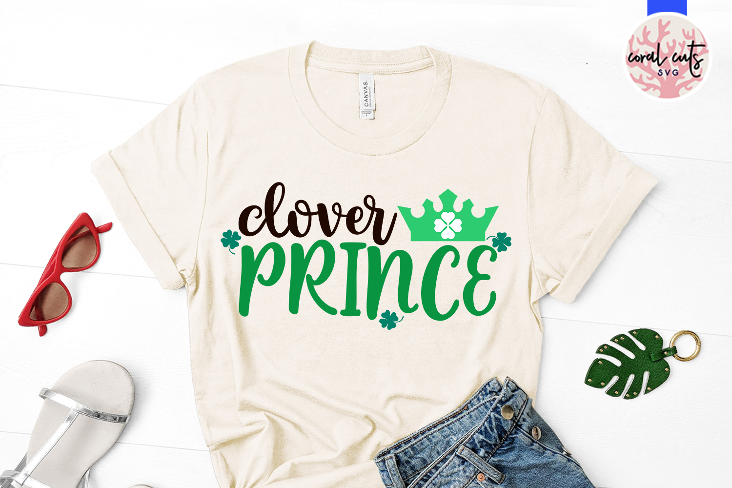 Clover prince - St. Patrick's Day SVG EPS DXF PNG example image 2