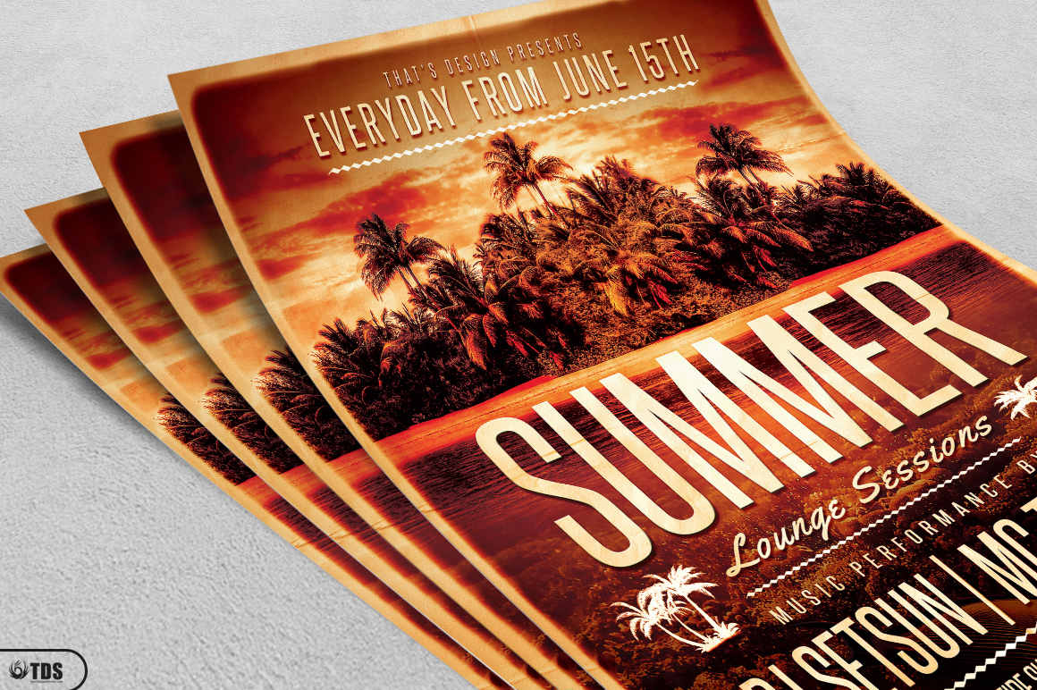 Summer Lounge Flyer Template V2 example image 3