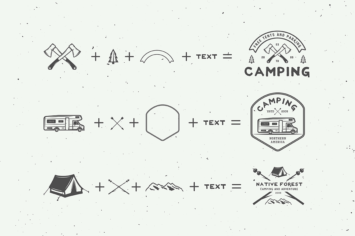 Camping Outdoor Logo Creation Kit example image 2
