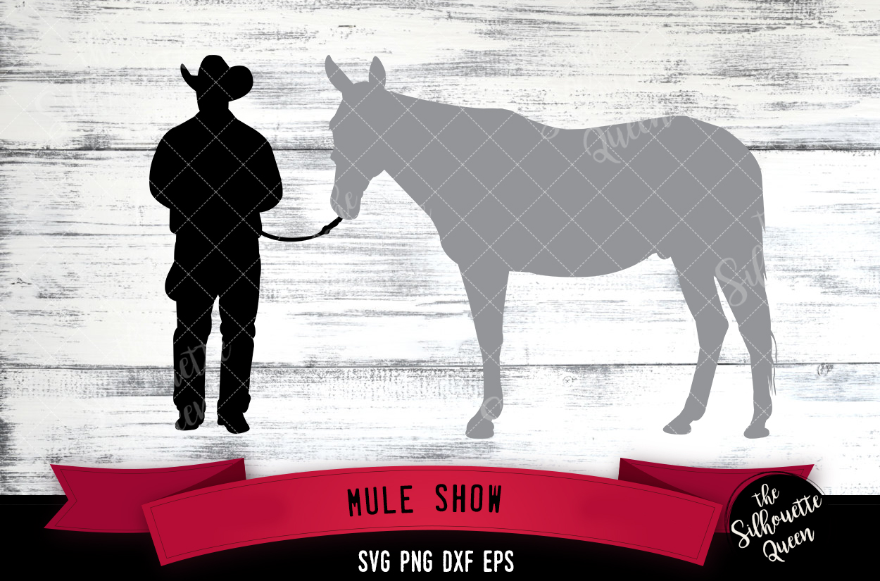 Mule show svg file, livestock show svg cut file example image 1