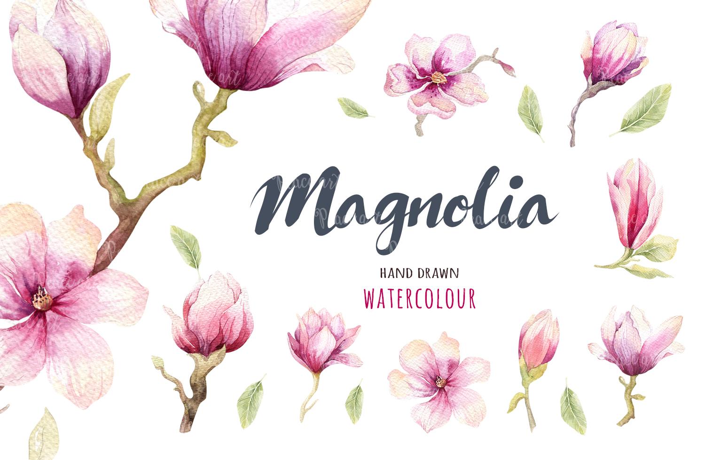 Watercolour magnolia and birds example image 5