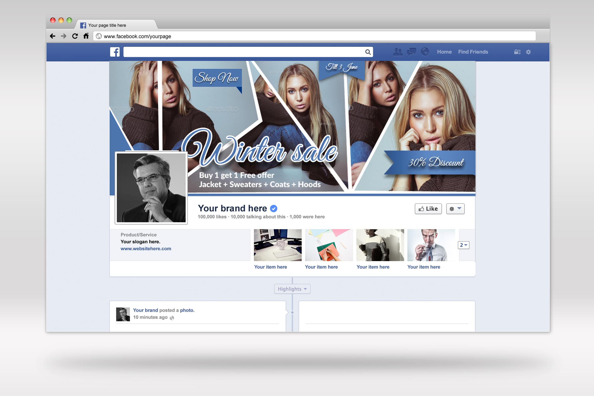Creative Design Facebook Timeline example image 2