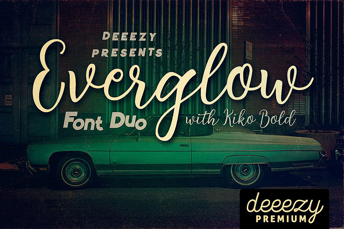 Everglow Script Font Duo example image 1